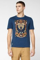 Lacoste L!VE Short Sleeve Tribal Graphic T-Shirt