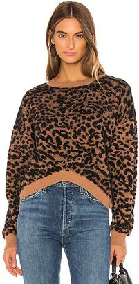J.o.a. Leopard Sweater Top