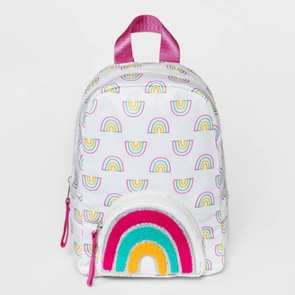 Cat & Jack Girl' Rainbow Printed Mini with Embellihed Pocket Backpack - Cat & JackTM