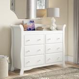 Stork Craft Avalon 6 Drawer Double Dresser Storkcraft Color: White