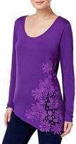 I.N.C International Concepts Petite Floral Lace Top