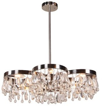 Aidan Gray Modern 6 - Light Unique / Statement Geometric Chandelier