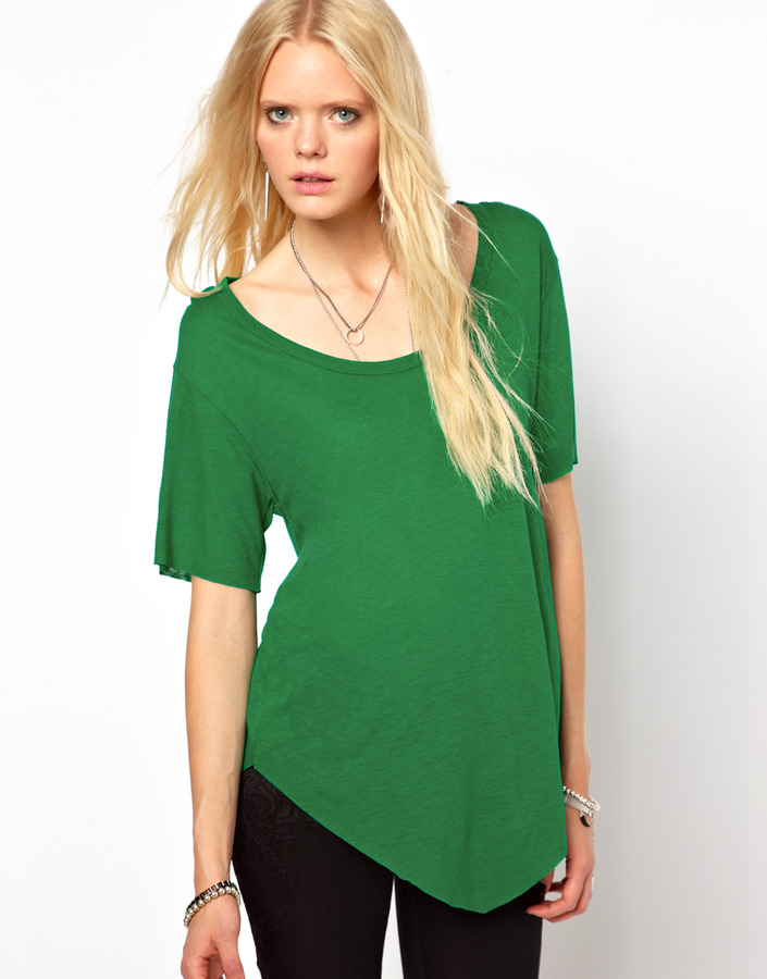 LnA Arrow Hem T-Shirt