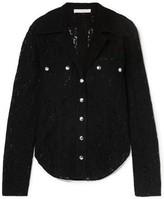 Chloé Snap-detailed Cotton-blend Leavers Lace Shirt
