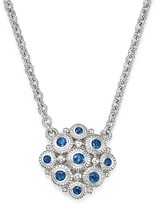 Judith Ripka Sterling Silver La Petite Snowflake Pendant Necklace with Sapphire, 17