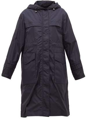 Moncler Hooded Technical-shell Parka - Womens - Navy