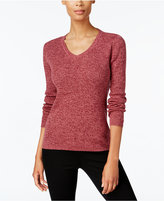 Karen Scott Petite Cotton Marled Sweater, Created for Macy's