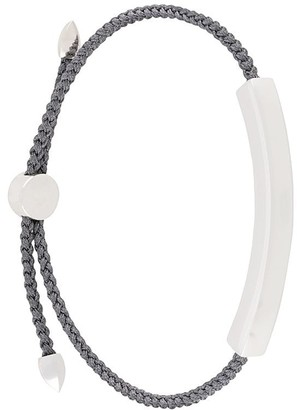 Monica Vinader Linear large steel grey friendship bracelet