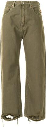 Denimist Cropped Distressed-Hem Jeans
