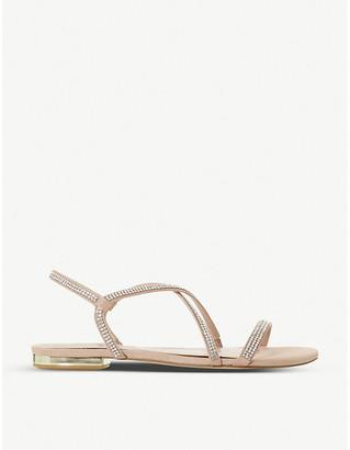 Dune Nicci diamante-embellished faux-leather sandals