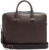 Dunhill Cadogan bi-colour leather briefcase