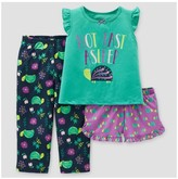 Just One You made by carter Toddler Girls' 3-Piece Pajama Set Turtles - Just One You Made by Carter's®