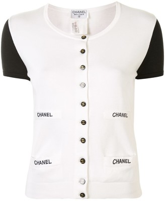 Chanel Pre Owned Logo Button Top