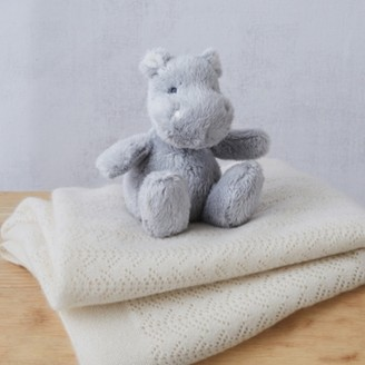 The White Company Henry Hippo Mini Toy, Grey, One Size