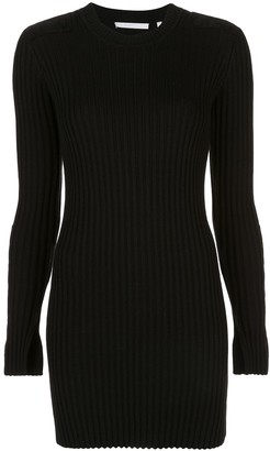 Helmut Lang Ribbed Multi-Patch Dress
