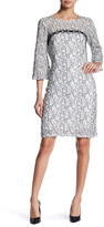 Taylor Stretch Lace Bell Sleeve Dress