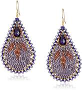 Miguel Ases Amethyst Tear Drop Earrings