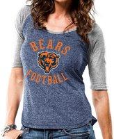 "Majestic Chicago Bears Women's NFL ""Champion"" Scoop Neck Raglan T-shirt"
