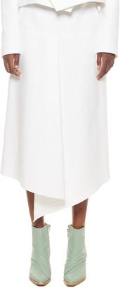 Tibi Compact Suiting Drape Skirt