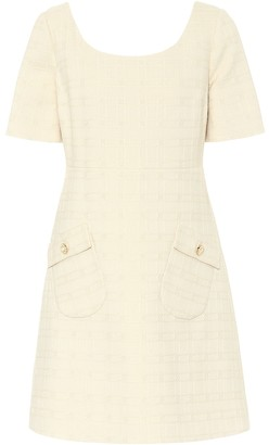 Gucci Cotton and wool tweed minidress