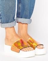 Sixty Seven SixtySeven Sixtyseven Flatform Slide Flat Holographic Sandal