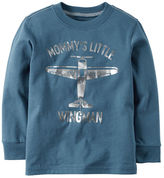 Carter's Long-Sleeve Mommy's Little Wingman Graphic Tee
