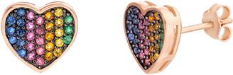 Lesa Michele Heart Stud Earrings