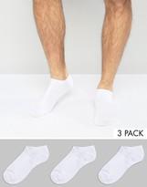 Calvin Klein Trainer Socks 3 Pack White