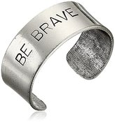 "Alisa Michelle Be Brave Cuff Bracelet, 4"""