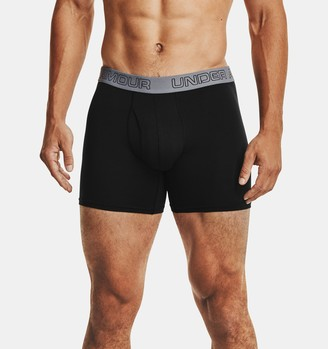 """Under Armour Men's Charged Cotton Stretch 6"""" Boxerjock - 3-Pack"""