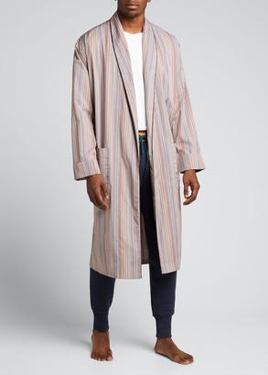 Paul Smith Men's Multi-Stripe Cotton Robe