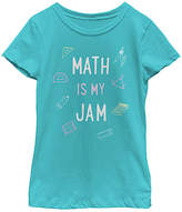 Fifth Sun Tahiti Blue 'Math Is My Jam' Crewneck Tee - Girls