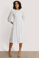 NA-KD Lace Puff Sleeve Dress