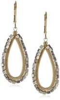 Sterling Silver and 14k Gold Fill Open Teardrop Earrings