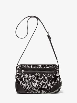 MICHAEL Michael Kors Monogramme Speckled Pony Print Calf Hair Crossbody Bag