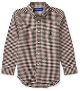 Ralph Lauren Boys 2-7 Plaid Poplin Shirt