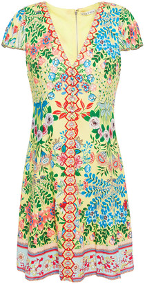 Alice + Olivia Hadley Floral-print Crepe Mini Dress