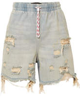 Alexander Wang Distressed Denim Shorts - Light denim