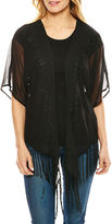 Big Buddha Embroidered Fringe Wrap