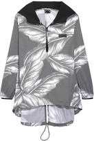 The Upside The Palms Hooded Printed Shell Jacket - Black