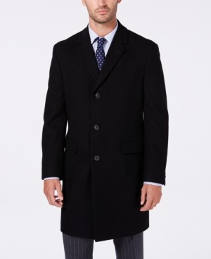 Nautica Men's Melton Classic/Regular Fit Batten Overcoat