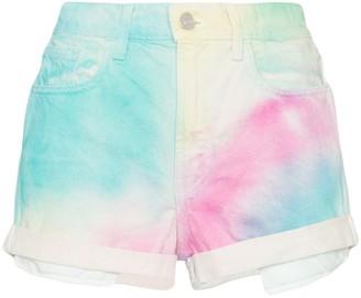 Jordache High-Rise Tie-Dye Denim Shorts