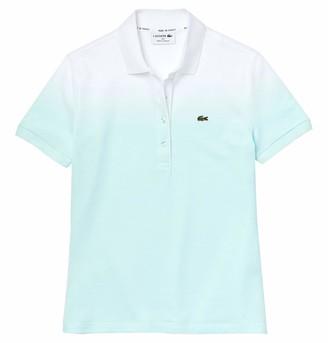 Lacoste Women's Short Sleeve Ombre Polo Shirt