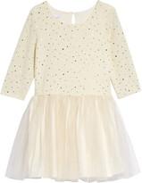 Frais Sparkle Long Sleeve Drop Waist Dress