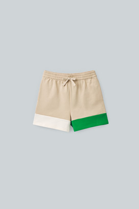 Cos Colour-Block Organic-Cotton Shorts