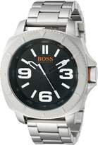 BOSS ORANGE Men's 1513161 Sao Paulo Stainless Steel Bracelet Watch with Black Dial