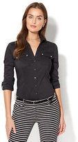 New York & Co. 7th Avenue - Madison Stretch Shirt - Button-Front - Tall