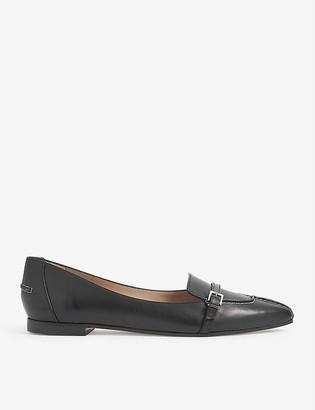 LK Bennett Paris buckle stitch leather loafers
