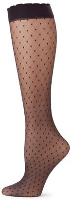 Fogal Pois Swiss Dot Knee-High Socks