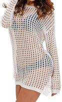 Min Qiao Women's Sexy Hollow Out Knitted Crochet Beachwear Dress Bikini Swimsuit Cover Up Tops